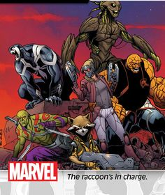 The all-new Guardians of the Galaxy...Rocket, Drax, Groot, Venom, the Thing & Star-Lady (Kitty Pryde.)