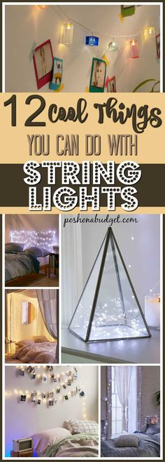 12 Cool Things You Can Do With String Lights http://poshonabudget.com/2017/03/12-cool-things-you-can-do-with-string-lights.html via @poshonabudget