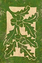 Oak Leaves & Acorns, green.