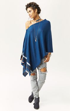CROPPED 3 WAY CASHMERE PONCHO