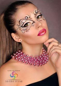 Drawn Masks fantasy makeup 1 – 707 X 1000 Loading. Drawn Masks fantasy makeup 1 – 707 X 1000 Makeup Art, Beauty Makeup, Eye Makeup, Hair Makeup, Makeup Ideas, Maquillage Halloween, Halloween Makeup, Crazy Makeup, Makeup Looks