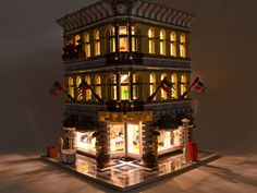 Lighting LEGO® Modular Buildings. good instructional page on how to light your modulars!