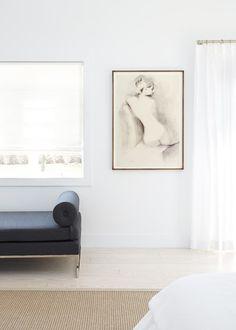 Black, White & Beach-Inspired in a Modern House in Bridgehampton