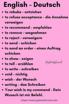 Learn German, Learn French, Learn English, German Grammar, German Words, English Words, German Language Learning, English Language, Deutsch Lernen B1