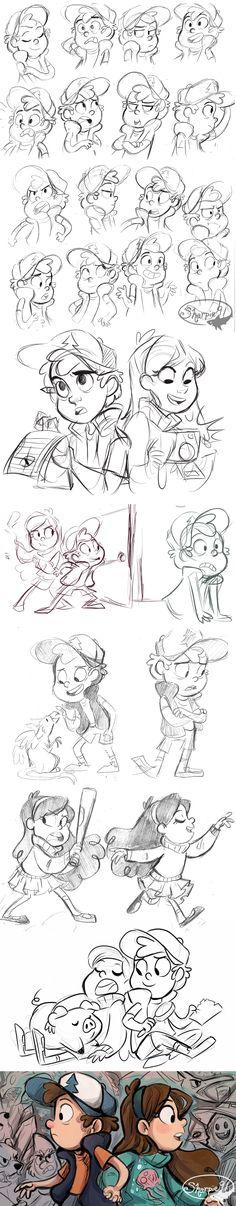 Gravity Falls Stuff 2 by sharkie19 on DeviantArt