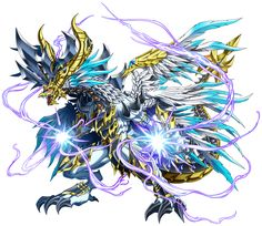 Brave Frontier - Units Guide by Brave Frontier PROs Fantasy Dragon, Fantasy Armor, Dark Fantasy Art, Dungens And Dragons, Cool Dragons, Magical Creatures, Fantasy Creatures, Character Art, Character Design