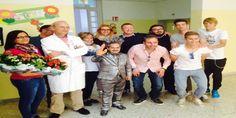 I giocatori del Bari Calcio dai bimbi di Oncoematologia | cittadeibimbi.it