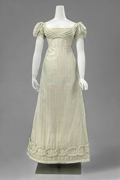 Evening dress, ca. 1820; Rijksmuseum BK-NM-8471