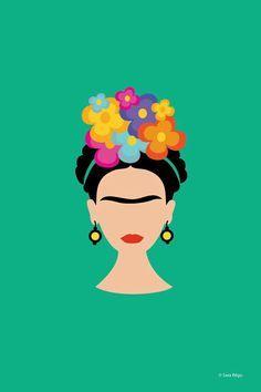 Pin by Jen Howell on ♥ Frida Kahlo Love ♥ Frida Kahlo Cartoon, Posca Marker, Kahlo Paintings, Buch Design, Frida Art, Mexican Art, Iphone Wallpaper, Pop Art, Art Projects