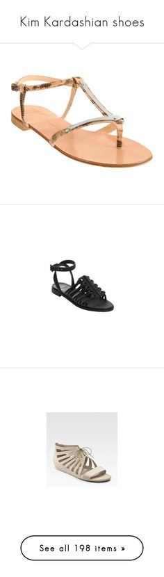 """""""Kim Kardashian shoes"""" by marilia13 ❤ liked on Polyvore featuring shoes, sandals, black white, black and white shoes, rubber shoes, black and white sandals, givenchy shoes, logo shoes, flats and gold croc"""