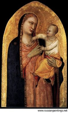Banco Maso Di - 'Madonna and Child' MASO DI BANCO (Firenze, ... – 1348)   #TuscanyAgriturismoGiratola
