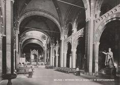 Milano Interno della Basilica di S. Ambrogio NVG  C452
