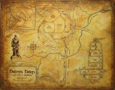 Map of Helms Deep | by Daniel Reeve