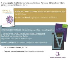 Venha visitar a Parábola Editorial no II SIC.  Dia: 11 a 13 de dezembro Local: Unilab, Redenção, CE