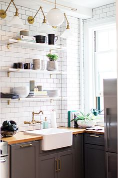 Cool Kitchen - 15 Reasons Why Open Shelving Is Sticking Around - Photos