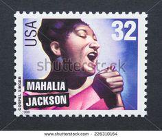 US Stamp - Legends of American Music Series Gospel Singers Mahalia Jackson
