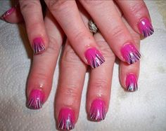french manicure designs | NAIL ART DESIGN TUTORIAL PINK ON PINK FRENCH MANICURE EASY FLOWERS ...