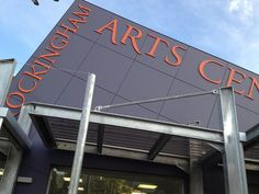 New Rockingham Arts Centre building Paper Art, Planets, Centre, Walls, Neon Signs, Wall Art, Building, Papercraft, Buildings