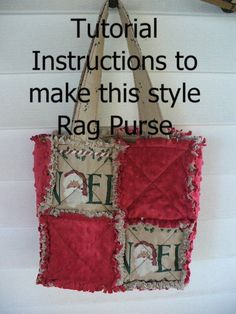 Ashlawnfarms Rag Quilted Purse Instructions by Ashlawnfarms Rag Quilt Patterns, Bag Patterns To Sew, Tote Pattern, Pdf Sewing Patterns, Wallet Pattern, Patchwork Bags, Quilted Bag, Patchwork Designs, Rag Quilt Purse