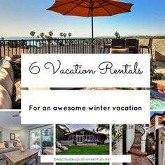 6 Beachside vacation rentals for an awesome winter vacation.  #California #vacation #familyvacation