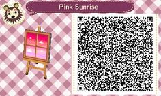 Pink Sunrise Window Pattern Animal Crossing New Leaf Qr Code