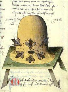 medieval bees beehive history