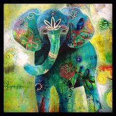 "2014 Artwork | Tracy Verdugo Art ""Leo's ellie"". commissioned work."