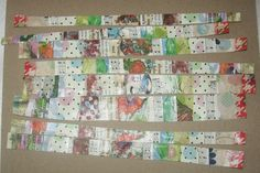 How to make collaged washi tape with painted papers, napkins and book pa...