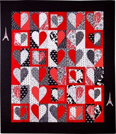 Quilt pattern:  Hearts at Play from Sandi Ray Maybe Kember's quilt made out of baby clothes scraps