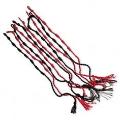Wholesale Lot 10 Red Black Faux Silk Macrame Bracelets