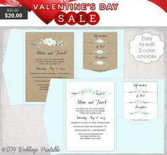 Pocket Wedding Invitation Template DIY by diyweddingsprintable