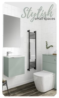 Don't compromise on style just because you have a small bathroom. Halo is perfect for creating a clean, minimalistic bathroom look. Bathroom Design Small, Bathroom Furniture, Wall Mount, Halo, Minimalist, Ideas, Home Decor, Style, Swag
