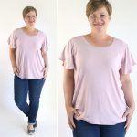 women's flutter sleeve tee shirt sewing pattern