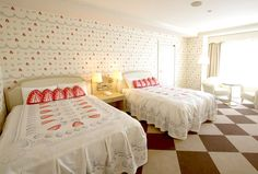 """Q-Pot. """"Sweet Room"""" at Tokyo Bay Maihama Hotel (Whip & Strawberry Room)"""