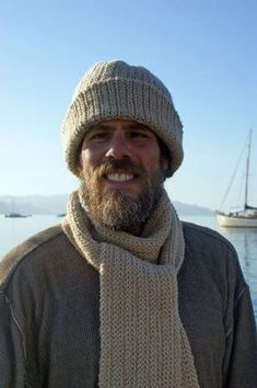 crochet hat patterns for men | Men's Winter Hat and Scarf Set - Front View Photos of the Men's Winter ...