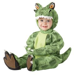 Tot-Rannosaurus Dinosaur Costume Infant Toddler: Green