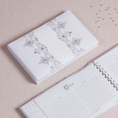 Beverly Clark Royal Lace Collection Guest Book - StressAwayBridal.com #weddingceremonyaccessories