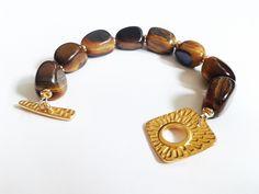 Tigerauge - Tigerauge Armband - ein Designerstück von tizianat bei DaWanda