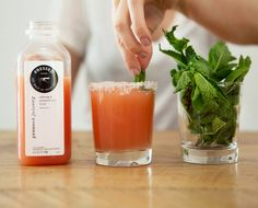 The Pressed Juicery Margarita: Mint, Grapefruit Pink Salt