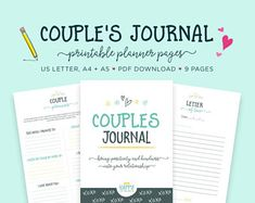 Check out our gratitude journal printables selection for the very best in unique or custom, handmade pieces from our shops. Relationship Therapy, Relationship Building, Relationships, Counseling Worksheets, Therapy Worksheets, Printable Planner Pages, Free Printables, Jesus Gifts, Bedroom Fun