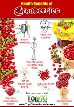 Cranberry is safe and superfood and it contained lots of health benefits, it's enhanced our blood circulation. Better circulation of the blood can boost our energy, there are also so many cranberry juice benefits. Cranberry Health Benefits, Fruit Benefits, Coconut Health Benefits, Top 10 Home Remedies, Natural Remedies, Calendula Benefits, Food Facts, Health Remedies, Healthy Tips