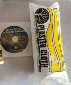 Plaster Cloth and Layout Building DVD Kit Model Railroads Villages Never Used #WoodlandScenics