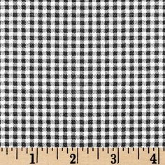 Small Check Black/Ivory from @fabricdotcom  Screen printed on cotton this fabric is perfect for decorating. Colors include black and ivory. This fabric is great for throw pillows, duvet covers, draperies, valances or light upholstery. Try your hand with tote bags and handbags! Colors include black and ivory.