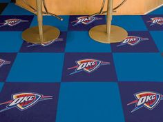 Need an awesome DIY home improvement project? Well, doesn't get better than putting together these OKC Thunder carpet tiles.  Will instantly transform your game room, personal bar, wherever you want to put these down.