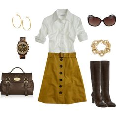...I'd add a cardi or sweater option and a simple gold necklace.