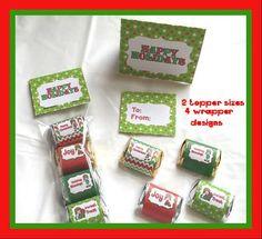Christmas Elf Printable Hershey Nugget Wrappers by NCPrintables