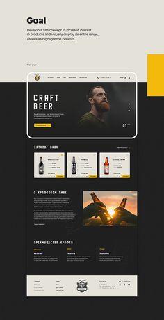 Craft Beer Online Shop on Behance Craft Beer Shop, Craft Beer Gifts, Craft Beer Labels, Craft Beer Wedding, Craft Beer Glasses, Template Web, Design Food, Design Design, Page Web