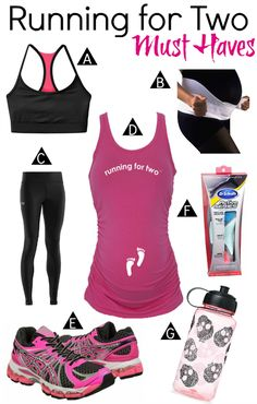 You don't have to stop running during your pregnancy, just make sure you have these handy things with you!  #running #pregnancy #prenatal #safety #healthy #workout #fitness