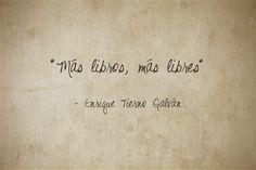"""""""Más libros, más libres""""- Enrique Tierno Galván #FelizDíaDelLibro"""