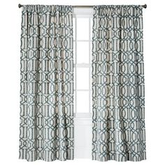"Would love to have these for the front window. Target Threshold Farrah Teal  Lattice 84"" or 96"" length window is 70""Wide   (Need two panels)"